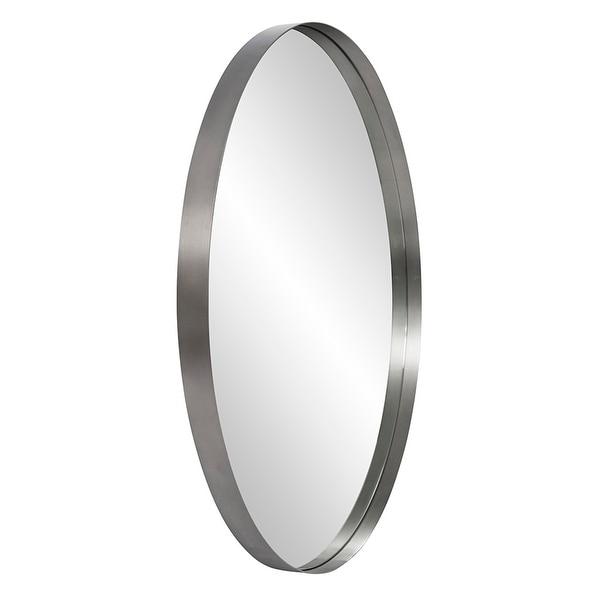 Steele Silver Round Mirror - 36 x 36. Opens flyout.