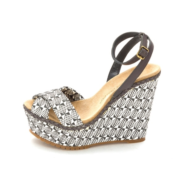 Jean-Michel Cazabat Womens Holly Peep Toe Casual Platform, Grey, Size 5.0