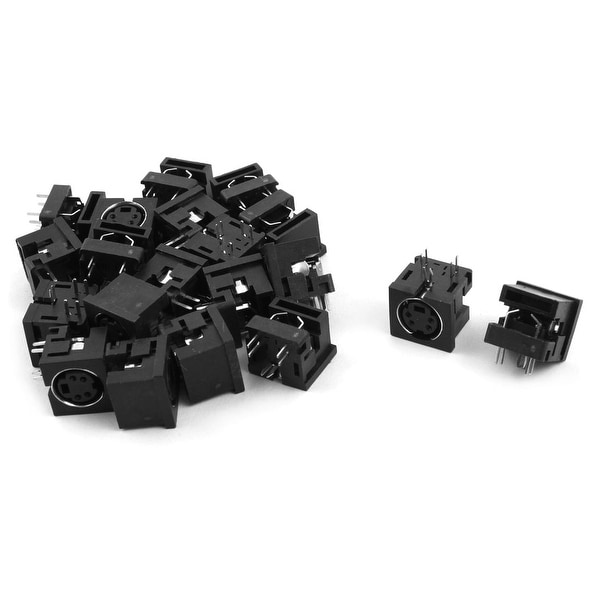 PCB Mount Female Mini 4 Pin Din S Jack DVD Connectors Sockets Black 20pcs