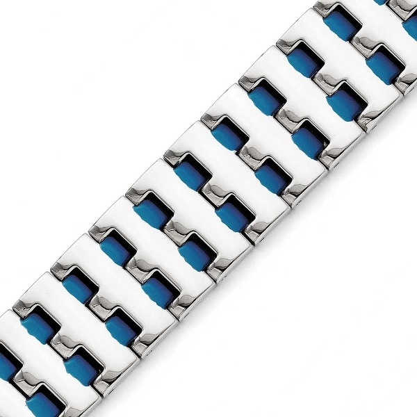 Chisel Stainless Steel Blue IP-plated Bracelet