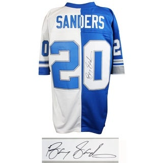 buy popular fd47d 3e409 Shop Barry Sanders Signed Framed 16x20 Detroit Lions White ...