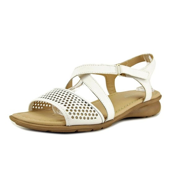 Naturalizer Juniper Women W Open Toe Leather White Sandals