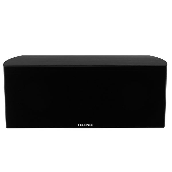 Black Ash Fluance XL7CBK High Performance Two-Way Center Channel Speaker for Home Theater