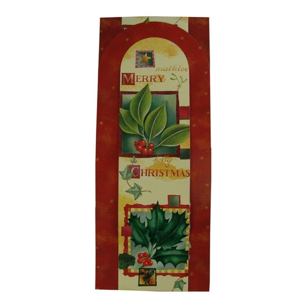 Club Pack of 144 Holly Berry Wall Hanging Christmas Greeting Card Holders - multi