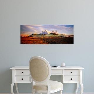 Easy Art Prints Panoramic Image 'Clouded sky over airport, Denver International Airport, Denver, Colorado' Canvas Art