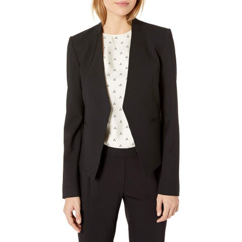 Theory Women's Jacket Black Size 8 Lanai One-Button Tailored-Fit
