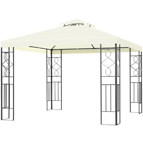 Costway 2 Tier 10'x10' Patio Gazebo Canopy Tent Steel Frame Shelter