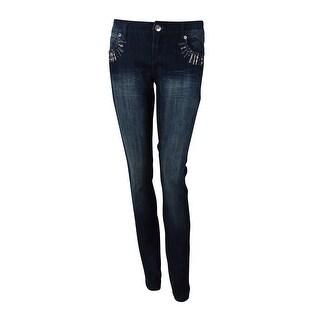 INC International Concepts Women's Embellished Skinny Jeans - 4