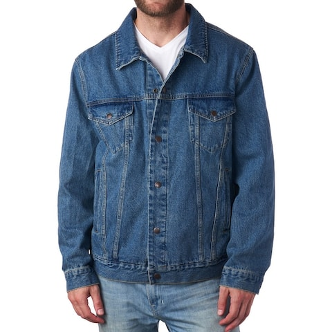 Alpine Swiss Derek Mens Classic Denim Jacket Jean Trucker Coat