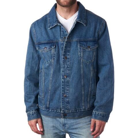Alpine Swiss Derek Mens Classic Denim Jacket Jean Trucker Coat