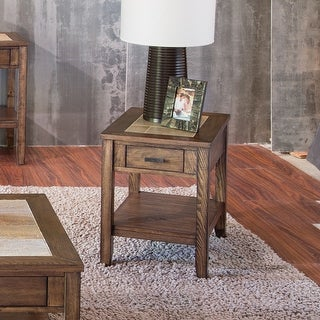 Link to Mesa Valley Tobacco Ceramic Tile Top Chair Side Table Similar Items in Living Room Furniture