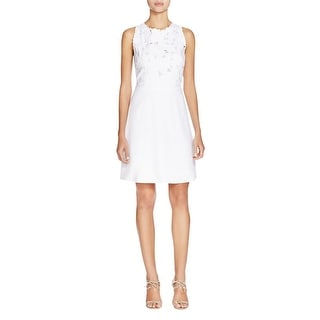 Laundry by Shelli Segal Womens Casual Dress Floral Lace Applique
