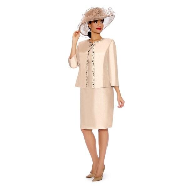 Giovanna Signature Women's 2-pc Dress & Bolero Jkt Set with Beading