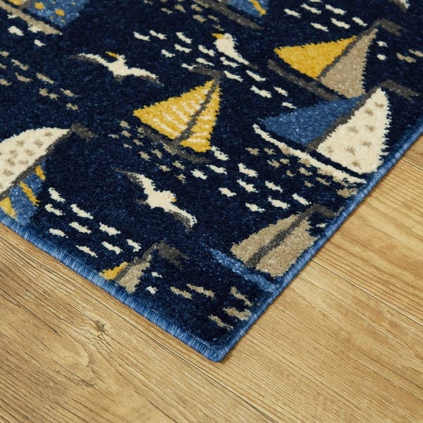 Bay Marina Coastal Sail Boat Area Rug On Sale Overstock 30511506