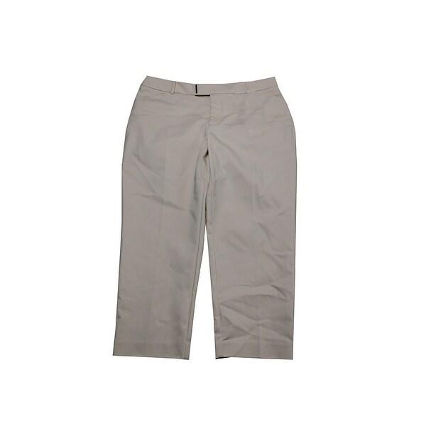 cf13aaeaa34 Shop Charter Club Beige Straight-Leg Capri Pants - 10 - Free ...