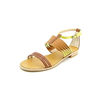French Connection Hazel Women Open Toe Leather Tan Sandals