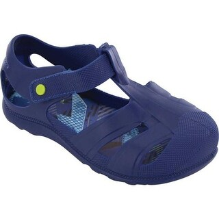 Western Chief Boys' Playground Sandal Blue Blast PVC