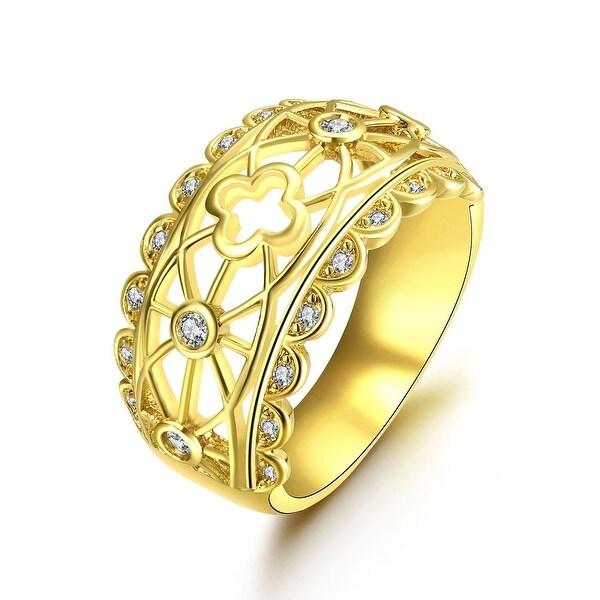 Laser Cut Matrix Gold Design Ring