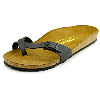 Birkenstock Piazza Women N/S Open Toe Synthetic Black Slides Sandal