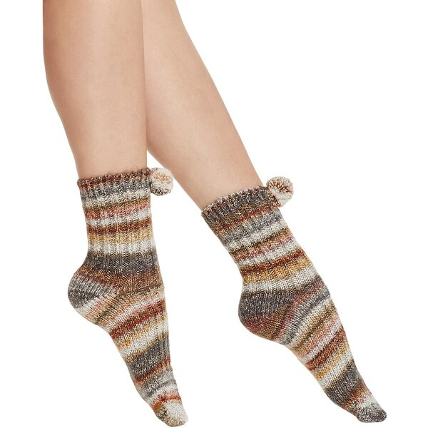 Free People Womens Casual Socks Knit Striped - o/s