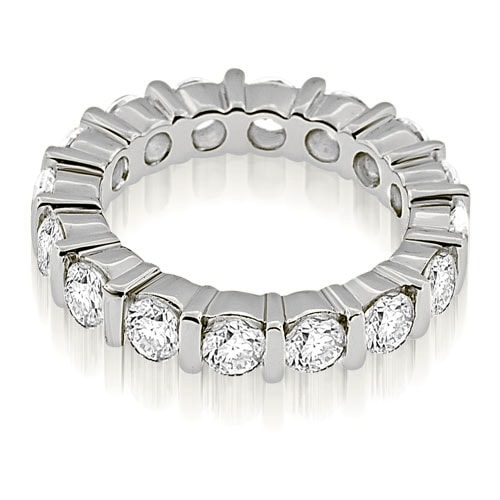 2.40 cttw. 14K White Gold Bar Set Round Cut Diamond Eternity Ring
