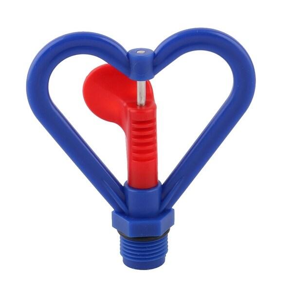 Garden Plastic Heart Shaped Plants Irrigation Water Sprayer Sprinkler Head Blue - Blue,Red,Silver Tone. Opens flyout.