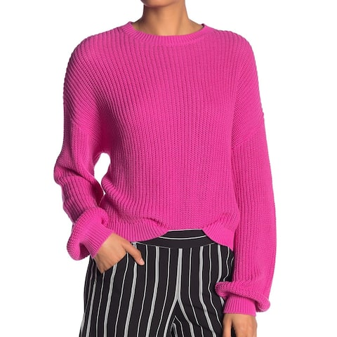 Abound Pink Womens XS Knitted Long Sleeve Pullover Cotton Sweater