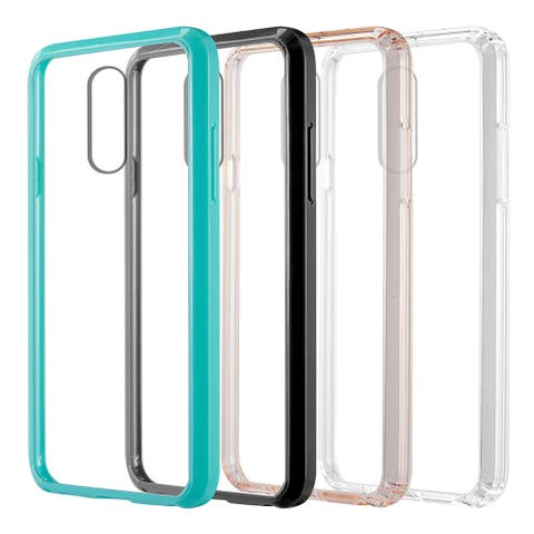 Ultra Thin Clear Acrylic Back Cover Protective TPU Case for LG Q7/Q7+