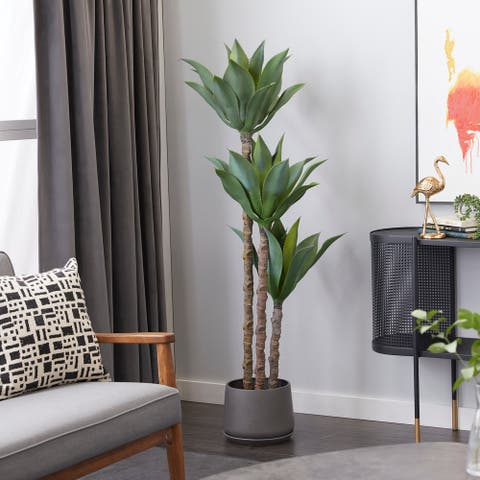 """Artificial Plant For Indoor Decorative Foliage 63"""" Green - 24X24X63"""