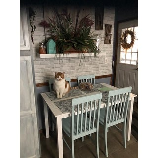 Porch & Den Pompton White and Mint Green 5-piece Dining Set