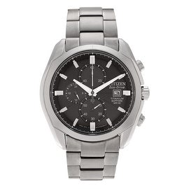 Citizen Men's Titanium 'Eco-Drive' CA0020-56E Chronograph Link Watch
