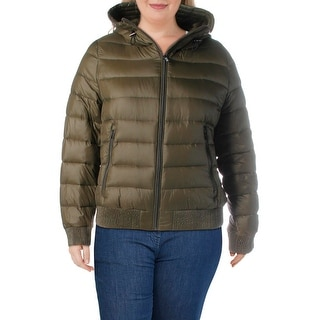 Link to DKNY Womens Packable Coat Down Puffer - Green - XXL Similar Items in Women's Outerwear