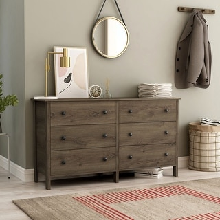 Link to Carbon Loft Mulgrew Distressed Walnut Dresser Similar Items in Bedroom Furniture