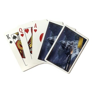The Polar Express - Train & Mountain Pass (Playing Card Deck - 52 Card Poker Size with Jokers)