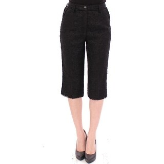 Dolce & Gabbana Black wool shorts pants - it40-s