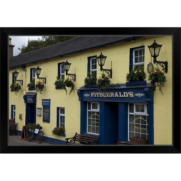 """Fitzgeralds Bar in Avoca Village, A.K.A. Ballykissangel, County Wicklow, Ireland"" Black Framed Print"