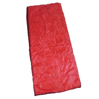 Outdoor Camping Mummy Caming Hinking Foldable Sleeping Bag Red 175 x 75cm