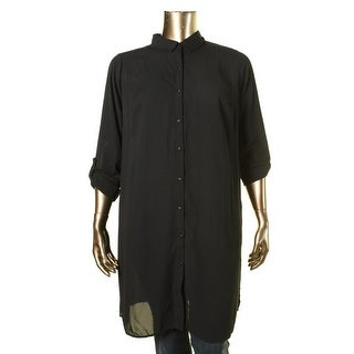 NY Collection Womens Plus Collared TUNIC Button-Down Top - 3X