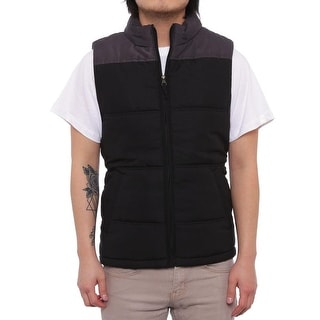 Weatherproof  Colorblocked Puffer Vest Vest Black