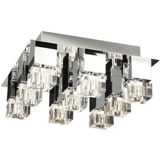 PLC Lighting PLC 81238 Four Light Semi Flush Mount Ceiling Fixture from the Charme Collection - Silver