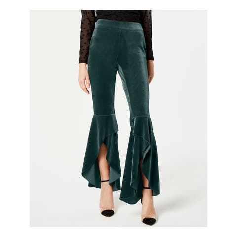 INC Womens Green Wide Leg Formal Pants Size 12