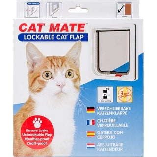 White - Cat Mate Lockable Cat Flap