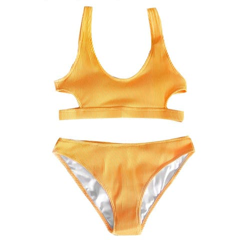 CUPSHE Fashion Women's Solid Color Tank Low Waisted Bikini Set Beach Swimwear... - 4