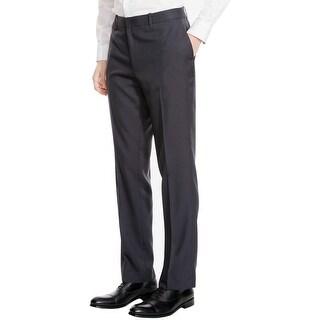Kenneth Cole Reaction Slim Fit Dress Pants 38x32 Herringbone Indigo