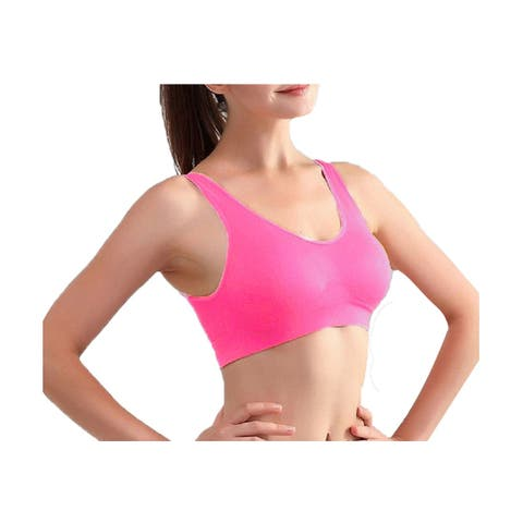 Women Removeable Pads Wirefree Sleep Vest Tops Bra