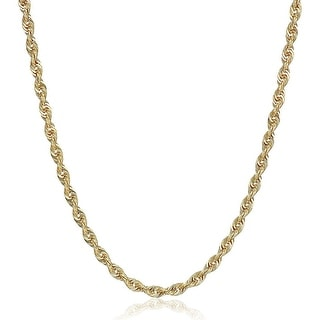 Eternity Gold Glitter Chain Necklace In 10K Gold 18 Yellow