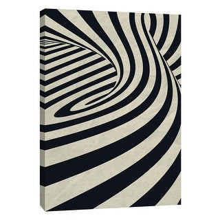 """PTM Images 9-109004  PTM Canvas Collection 10"""" x 8"""" - """"Black Swirls D"""" Giclee Abstract Art Print on Canvas"""