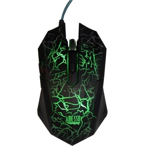 """Adesso IMOUSEG3 Adesso iMouse G3 Illuminated Gaming Mouse - Optical - Cable - USB - 2400 dpi - Computer - Scroll Wheel - 6"