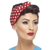 Smiffy 40's Rosie Wig (Brown) - Solid