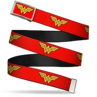 Wonder Woman Logo Fcg Red  Chrome Wonder Woman Logo Red Webbing Web Belt